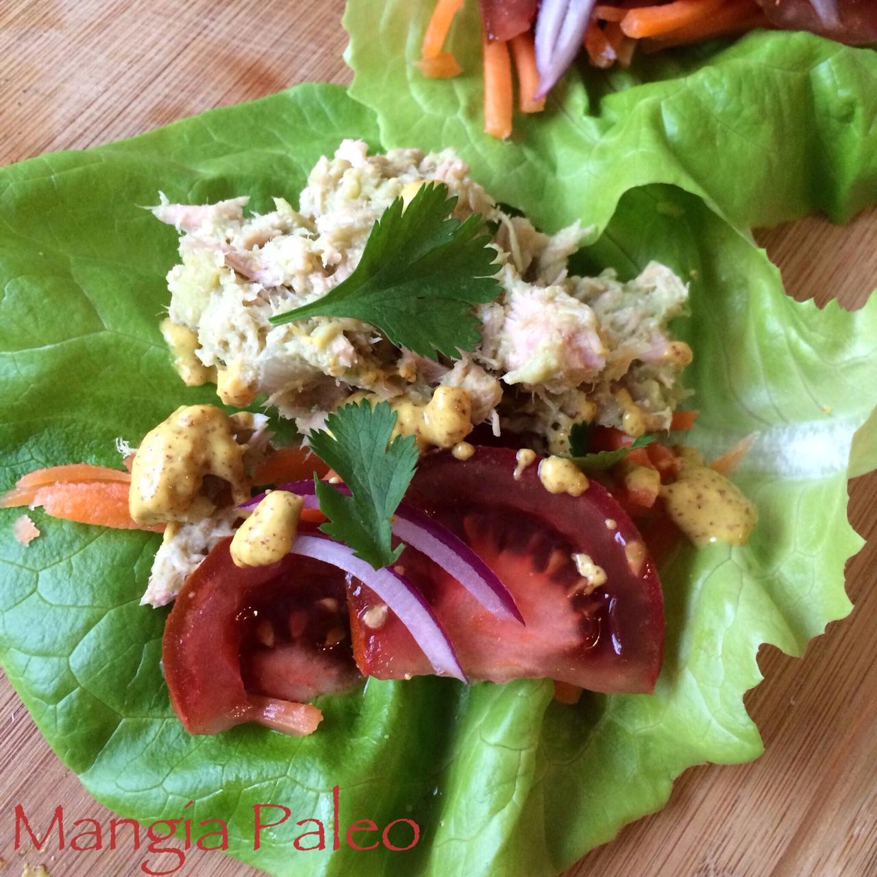 Tuna Salad Lettuce Wraps | Mangia Paleo